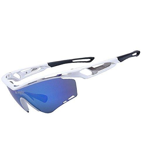 Outdoor Sports Goggles Anti-UV Polarisierende Sonnenbrille Fahrrad Reiten Ski Brille für Mann und Frau , black and red