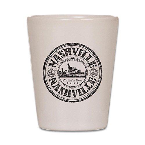 CafePress - Nashville Stamp - Shot Glass, Unique and Funny Shot Glass