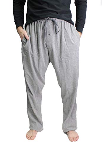 Hanes X-Temp Men`s Jersey Pant ComfortSoft Waistband (3X-Large, Grey Heather)