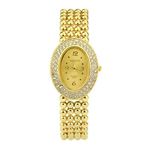 LUXISDE Watch Women Ladies Fashion Diamond Bracelet Watch Creative Gift Quartz Watch A