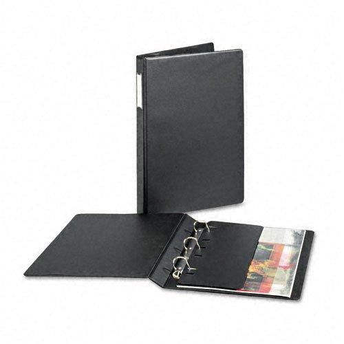 - Cardinal : Heavyweight Vinyl Slant-D 3-Ring Binder w/Label Holder, 1in Capacity, Black -:- Sold as 2 Packs of - 1 - / - Total of 2 Each