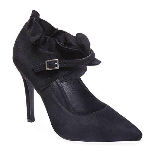 Modeuse Material De Negro Vestir Zapatos Mujer Sintético La 1qBHw