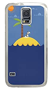 Samsung Galaxy S5 Cases & Covers - Dog On An Island PC Custom Soft Case Cover Protector for Samsung Galaxy S5 - Transparent