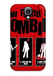 Hot Tpye Zombie Dark Abstract Dark Case Cover For Galaxy S4