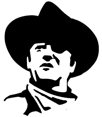 Cowboy - Western Transfer tattoos tattooing temporary tattoos Cute Face tattoos one sheet of A4 paper]()