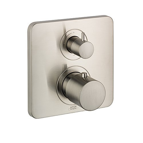 AXOR 34705821  Citterio M Thermostatic Trim with Volume Control, Brushed Nickel AXOR