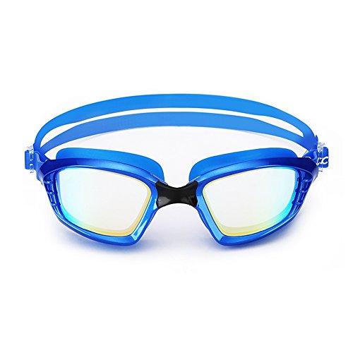 Grande Natación Impermeable Niebla Anti Acogedor Gafas De Unisex Natación Azul HD Adulto QY Marco Gafas De 6fI01