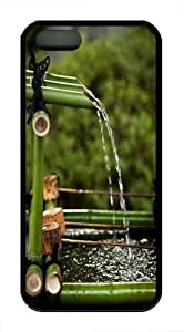 Bamboo water TPU Case Cover for iPhone 5 and iPhone 5s Black New Year gift