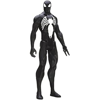 Marvel Ultimate Spider-Man Titan Hero Series Black Suit Spider-Man Figure - 12 Inch
