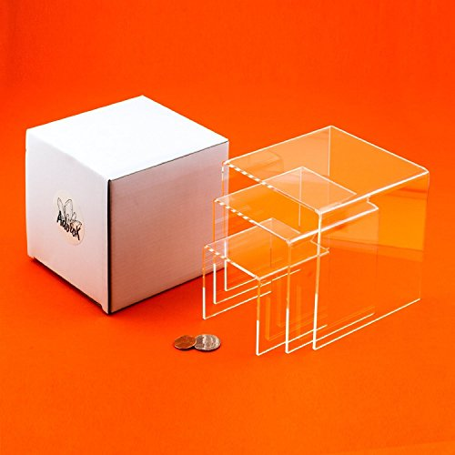 Adorox Top Quality (2 Set) Clear Acrylic Display Riser by Adorox (Image #4)