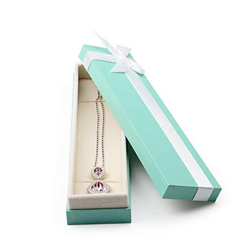 Oirlv Velvet Bow-knot Long chain Necklace Storage Box Jewelry Packaging Gift Box Showcase Display by Oirlv (Image #1)