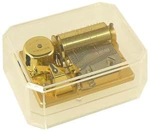 """Caja de música REUGE 36-Ton-ROM mecanismo musical en acrílico-carcasa """"canción de Alemania/himno nacional"""" (cajita de música, caja de música, Music Box World)"""