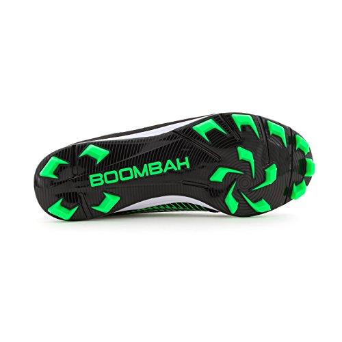 Boombah Womens Frizione Modellata Tacchette - 13 Opzioni Di Colore - Più Dimensioni Nero / Verde Lime