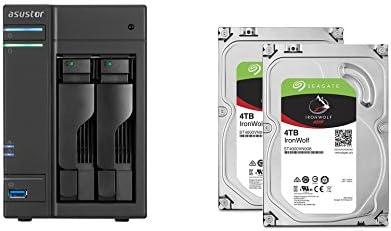 Set bestehend aus zwei Seagate Ironwolf 4 TB NAS optimierten Festplatten mit IHM Technik & Asustor NAS AS6102T