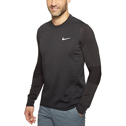 Nike Tech Sphere Knit Crew Men's Golf Cover-Up, Black, Medium by Nike