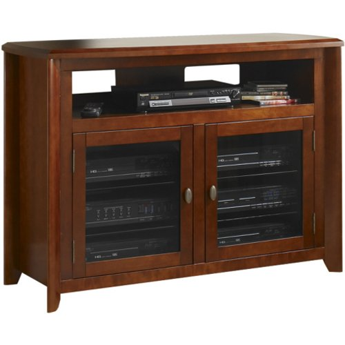 TechCraft 50-Inch Hi-Boy TV Credenza and Media Console, No Tools Required, - Credenza Crafts Entertainment