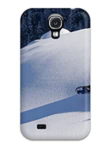 Durable Protector Case Cover With Man With Backpack Back Downhill Snowboard Hot Design For Galaxy S6 4.7