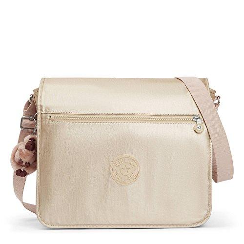Kipling Loftin Metallic Messenger Bag One Size Sparkly Gold