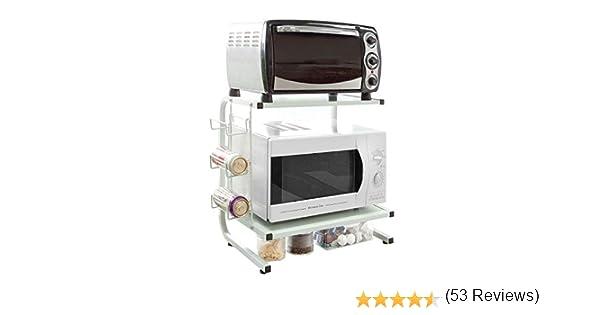SoBuy FRG092-W,Soporte para microondas, Estante, estantería de Cocina, miniestante,ES: Amazon.es: Hogar