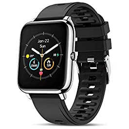 Canmixs Smart Watch for Android iPhone Compatible Waterproof Smart Watches for Women Men Bluetooth Smartwatch with Heart…