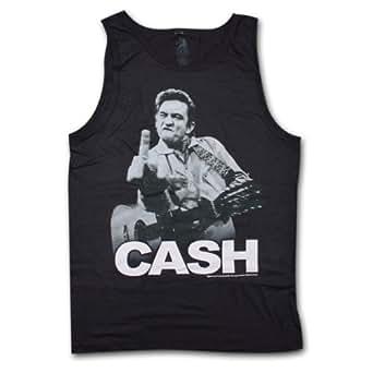 Johnny Cash Flipping Tank Top (X-Large)