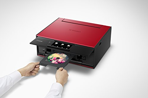 Canon TS9120 Wireless Copier: Mobile Tablet Printing, with Red