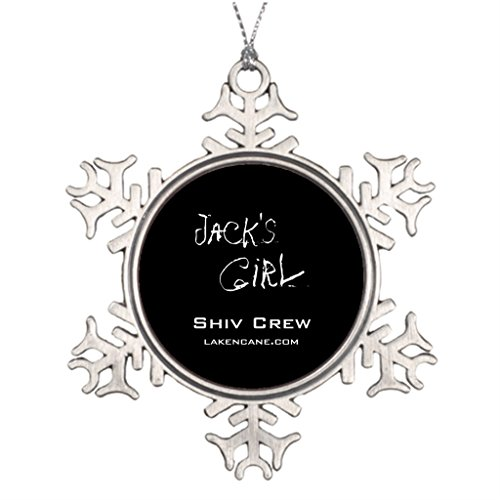 Snow Shiv (Darlingz Large Christmas Tree Decorations Shiv Crew Team Jack Personalized Christmas Snowflake Ornament)
