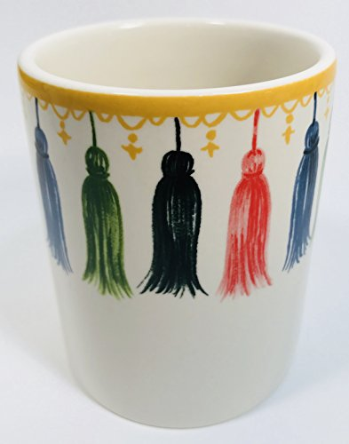 Angela Staehling by Magenta Sketchbook Series Ceramic Pencil Pen Cup Tassel Design (Angela Cup)