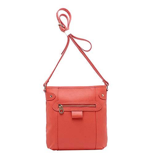 Red Main Sac Fourre Main,Femmes Bag Designer Sacs Grand à Cuir Cross Vintage Moto à Sac Bandoulière Véritable En Body à Loisirs Sacs tout UpxqwBR