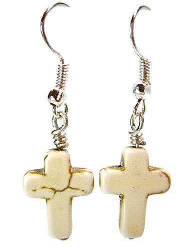 Geralin gioielli argent boucles d'oreilles vintage en forme de croix pour femme