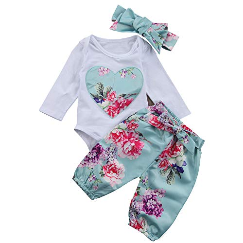 (Yilaku Newborn Baby Clothes Romper Outfit Pants Set Long Sleeve Winter Clothing 18-24Month)