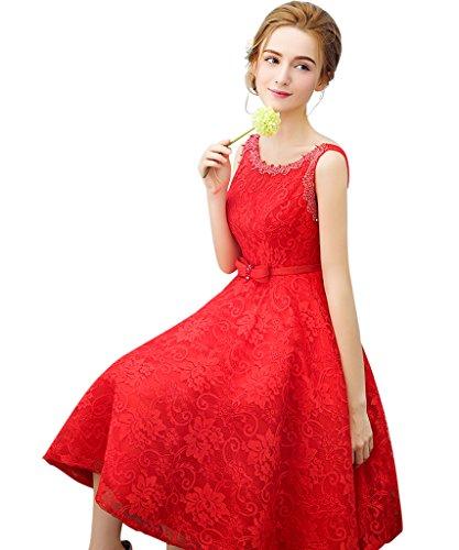 Linea Vestito Rosso A Donna Ad Vimans 8Uqw4T