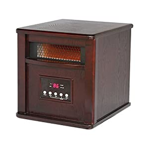 Westpointe WI-0035WC Infrared Heater, Dark Oak