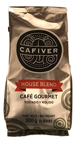 Cafiver Mexican Mountain Grown Gourmet Coffee, Roasted, Ground Coffee, (0.83 lb. Bag)