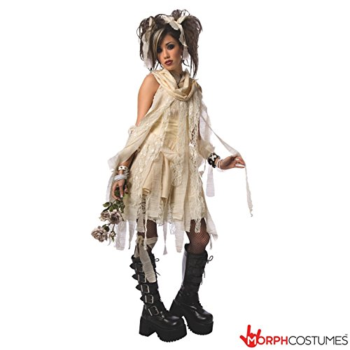 Ancient Egyptian Dress (Womens Ancient Egyptian Mummy Fancy Dress Costume - 3 Piece Quality Costume)