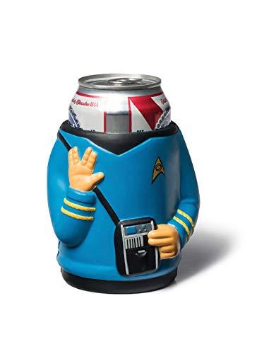 BigMouth Inc Star Trek Spock Drink Kooler, Blue, Holds Can or Bottle, Keeps Drink Cold
