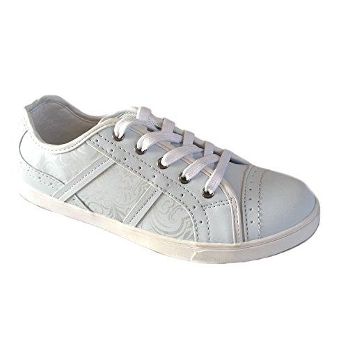 Scandi- Damen Sportschuhe Sneaker Freizeit - Schuhe - Größe 36-41 Neu Weiß
