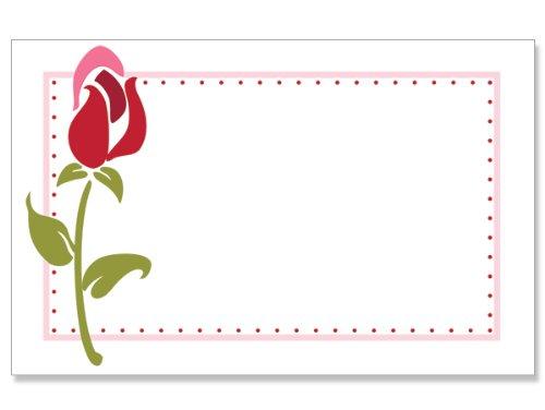 50 pack Rose Stem BorderNo Sentiment Enclosure Cards (20 unit, 50 pack per unit.) by Nas