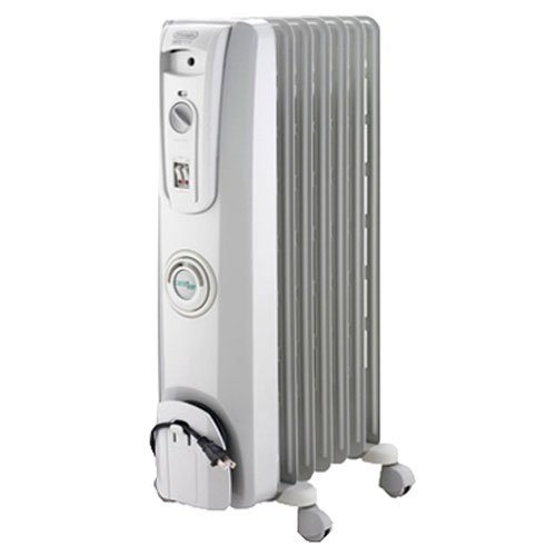 DeLonghi EW7707CM Safe Heat 1500W ComforTemp Portable Oil-Filled Radiator Decorative Electric Heater