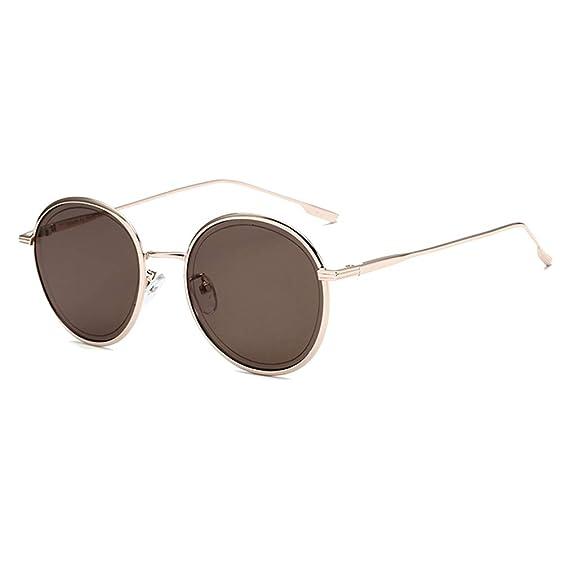 qiansu Nuevas gafas de sol Moda mujer Gafas de sol redondas ...