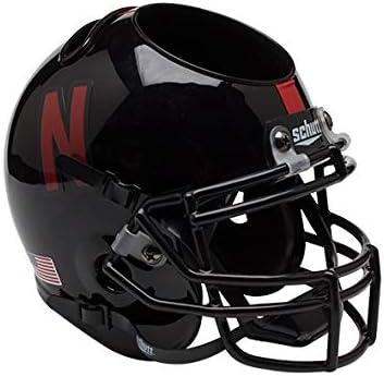 NEBRASKA CORNHUSKERS NCAA Schutt Mini Football Helmet DESK CADDY