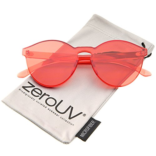 zeroUV - One Piece PC Lens Rimless Ultra-Bold Colorful Mono Block Sunglasses 60mm - One Lens Piece Sunglasses