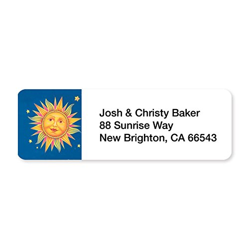 Classic Celestial Set of 215 Sheeted Address Labels
