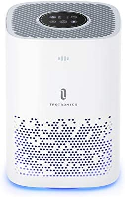 TaoTronics Air Purifier for Home, H13 Cleaner HEPA, CADR 150m³/h Desktop Filtration for Bedroom Kid's Room Office, 3 Fan Speeds Purification for Pet Dander Dust Pollen,Sleep Mode, White