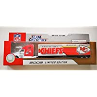 $24 » Fleer 2002 LIMITED EDITION NFL Team Collectible 1:80 Scale Diecast Kenworth Tractor Trailer KANSAS CITY CHIEFS