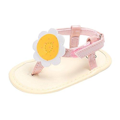 a786a0ebb Amazon.com  Dacawin Summer Baby Girls Flower Flip Flops Beach Leather  Sandals Bohemia Flat Sandals  Kitchen   Dining