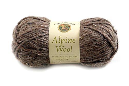 Lion Brand Yarn 822-224C Alpine Wool Yarn, Barley