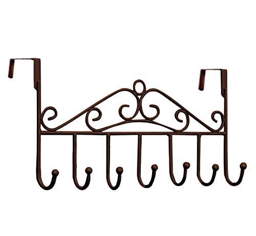 Youdepot Over The Door 7 Hanger Rack - Decorative Metal Hanger Holder for Home Office Use (Bronze)