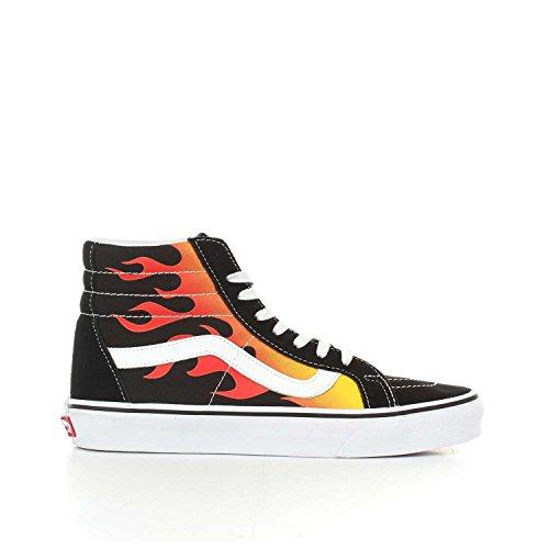 Sk8 Hi Hightop Black Vans Sneaker Herren Flame 58wp6R