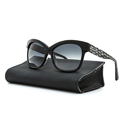 Alain Mikli AL1316 Womens Sunglasses A02N Black Grey Diamond Frame Gradient - Sunglasses Mikli Alain